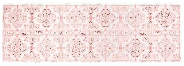 Růžový kusový orientální koberec Cook & Clean - délka 140 cm a šířka 45 cm