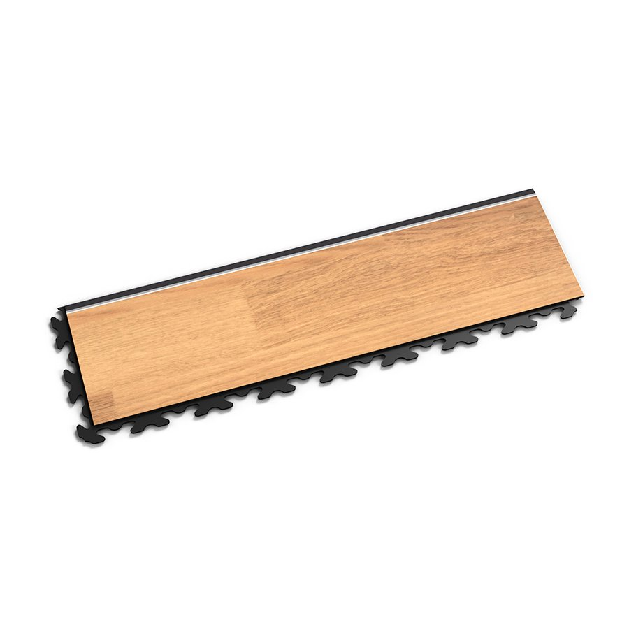 "Hnědý vinylový plastový nájezd ""typ B"" Home Decor 2114, Fortelock - délka 47,2 cm, šířka 14,5 cm a výška 0,65 cm"