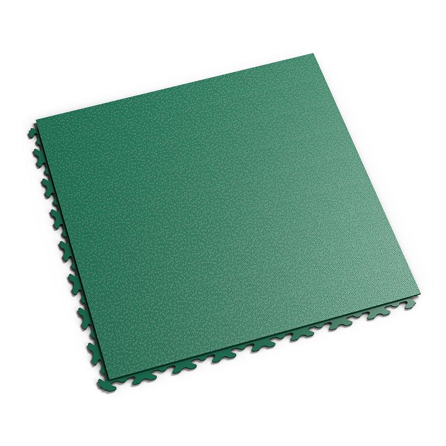 Zelená vinylová plastová zátěžová dlaždice Invisible 2030 (hadí kůže), Fortelock - délka 46,8 cm, šířka 46,8 cm a výška 0,67 cm