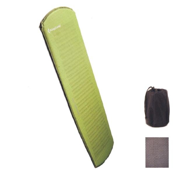 Zelená samonafukovací karimatka - délka 170 cm, šířka 51 cm a výška 2,5 cm