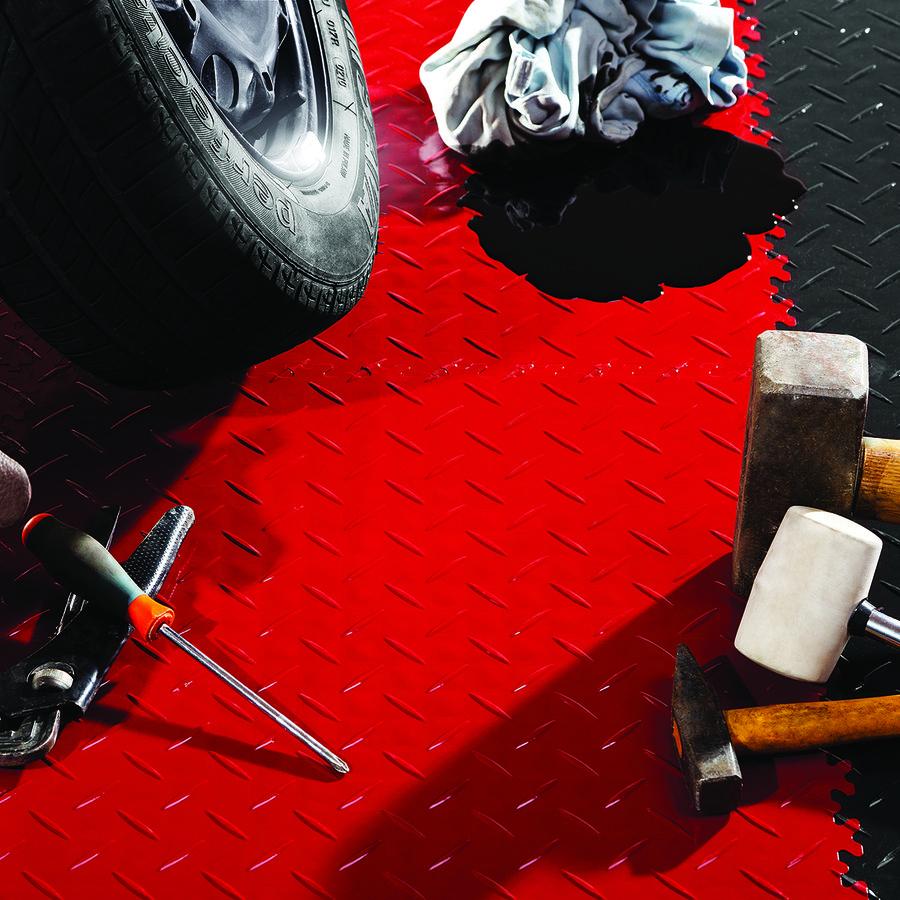 Černá vinylová plastová dlaždice Light 2080 (penízky), Fortelock - délka 51 cm, šířka 51 cm a výška 0,7 cm