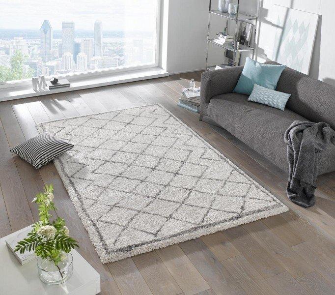 Béžový kusový moderní koberec Grace - délka 170 cm a šířka 120 cm