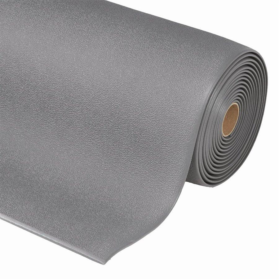 Šedá metrážová protiúnavová průmyslová rohož - výška 0,94 cm