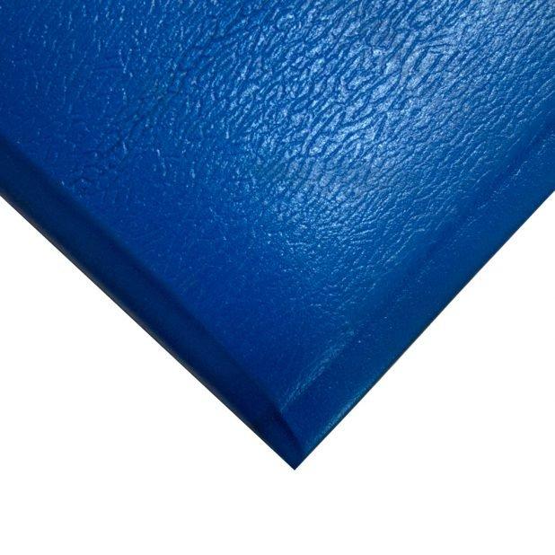 Modrá gumová průmyslová protiúnavová metrážová rohož - šířka 90 cm a výška 1,25 cm