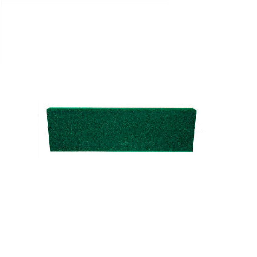 Zelený rovný nájezd pro gumové dlaždice - délka 75 cm, šířka 30 cm a výška 2 cm
