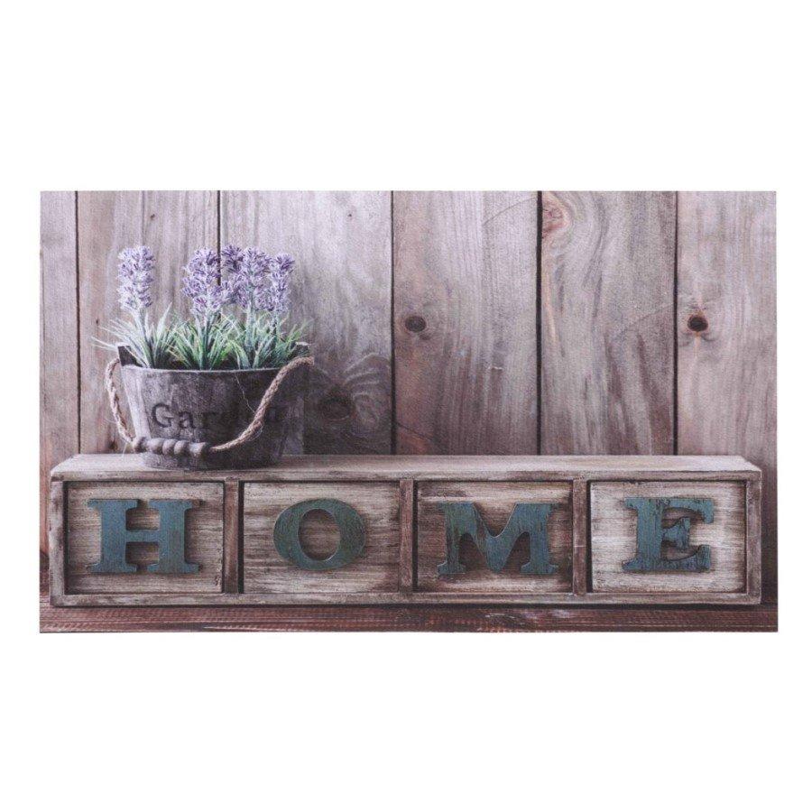 Vnitřní vstupní čistící rohož Gallery, Home Lavender, FLOMA - délka 45 cm, šířka 75 cm a výška 0,6 cm