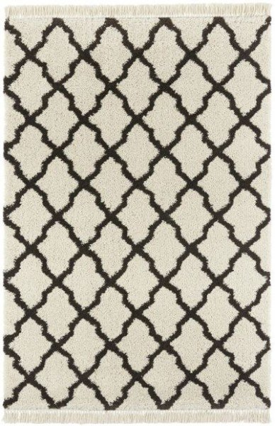 Béžovo-černý kusový moderní koberec Desiré