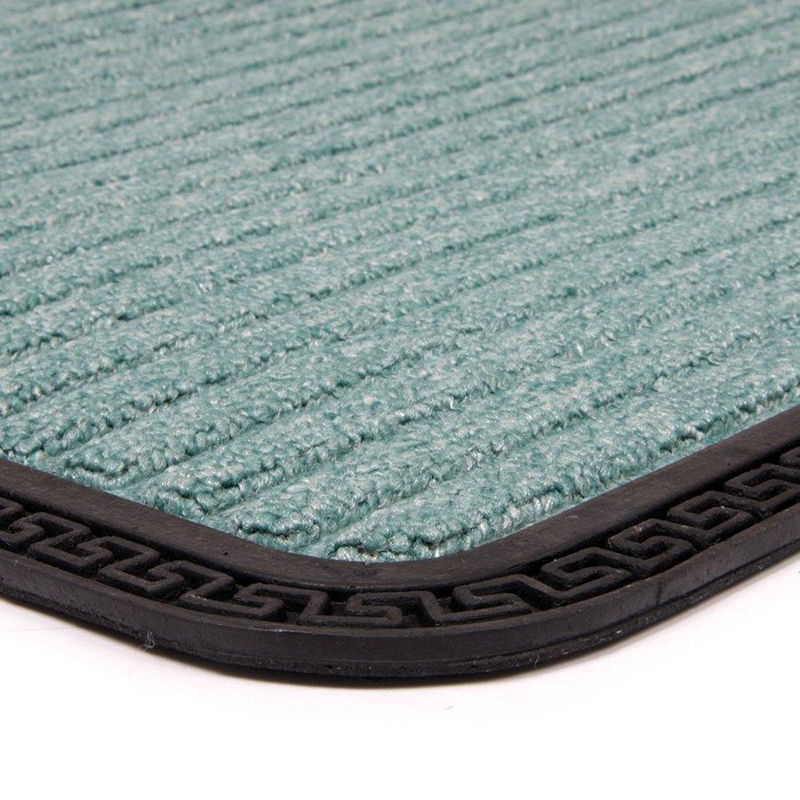 Zelená textilní vstupní venkovní čistící rohož Stripes, FLOMA - délka 50 cm, šířka 80 cm a výška 0,8 cm