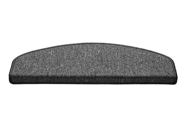 Béžový kobercový půlkruhový nášlap na schody Paris - délka 56 cm a šířka 17 cm