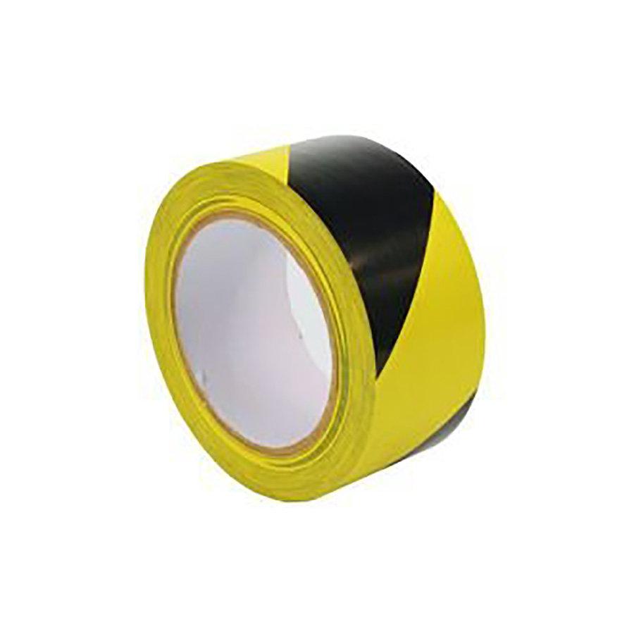 Černo-žlutá vyznačovací samolepící podlahová páska - délka 33 m a šířka 5 cm