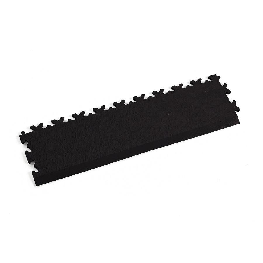 Černý vinylový plastový nájezd Eco 2025 (kůže), Fortelock - délka 51 cm, šířka 14 cm a výška 0,7 cm
