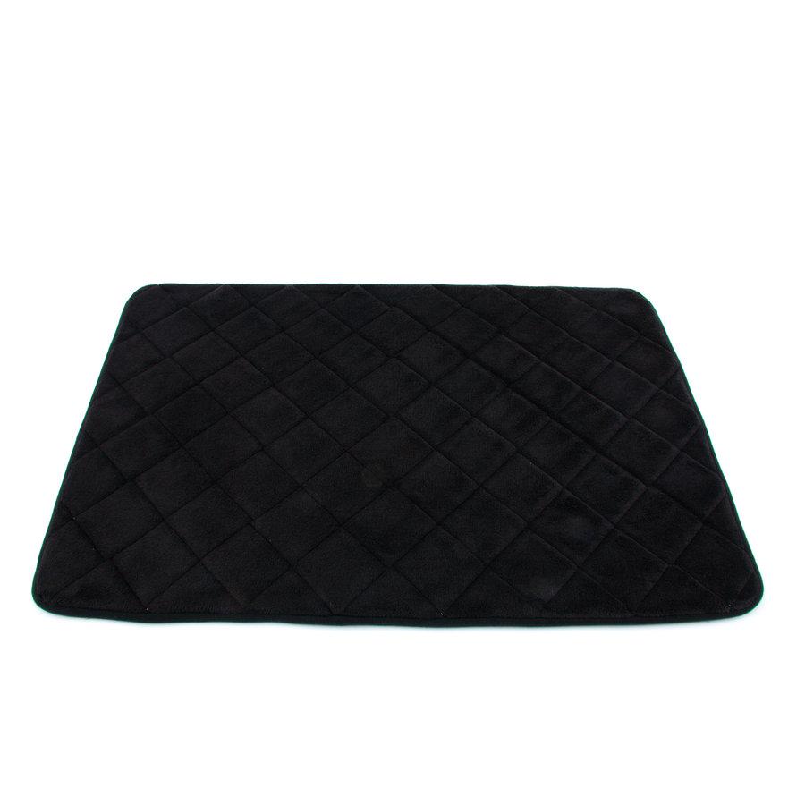 Černá pěnová koupelnová předložka - délka 80 cm a šířka 50 cm