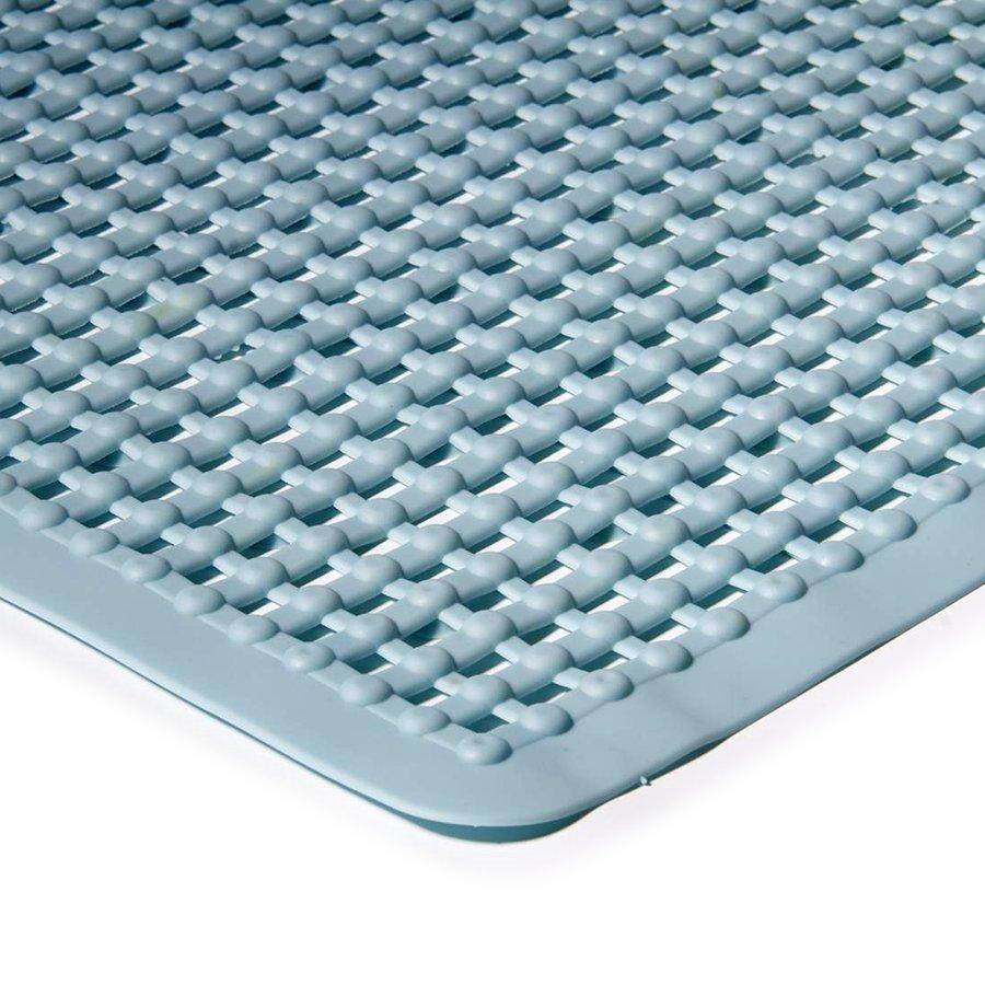 Modrá koupelnová protiskluzová sprchová rohož - délka 55 cm a šířka 55 cm