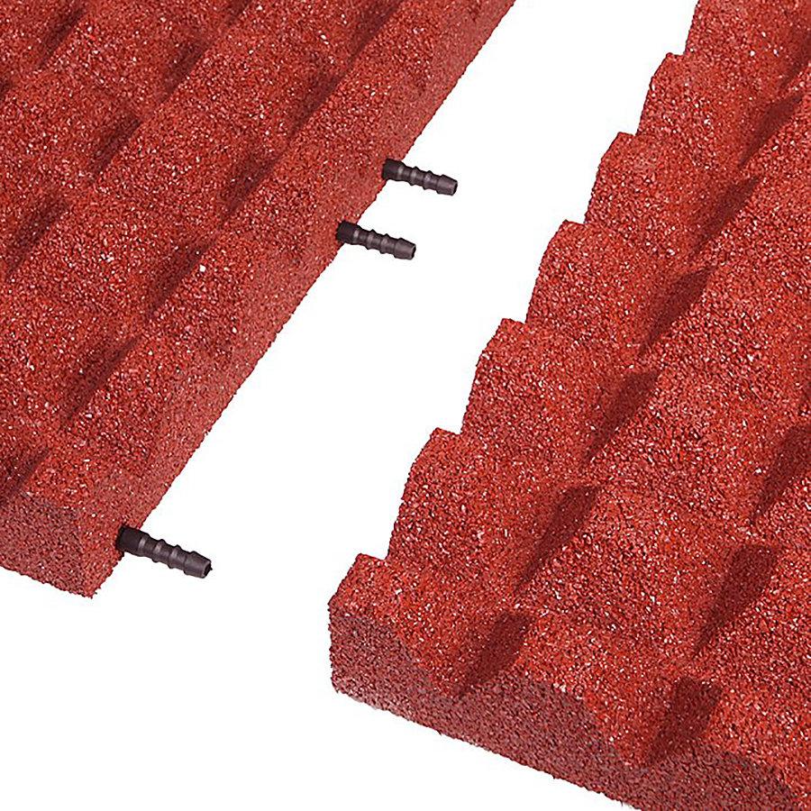 Červená gumová krajová deska (V55/R28) - délka 50 cm, šířka 25 cm a výška 5,5 cm