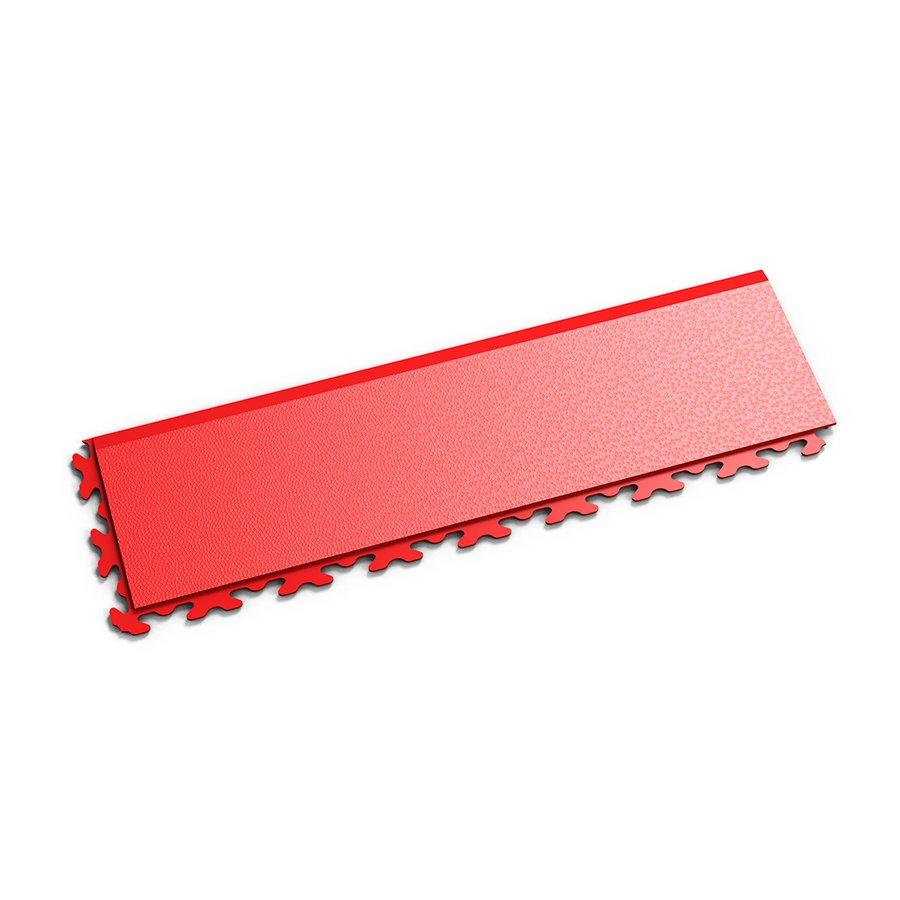 """Červený vinylový plastový nájezd """"typ B"""" Invisible 2034 (hadí kůže), Fortelock - délka 46,8 cm, šířka 14,5 cm a výška 0,67 cm"""