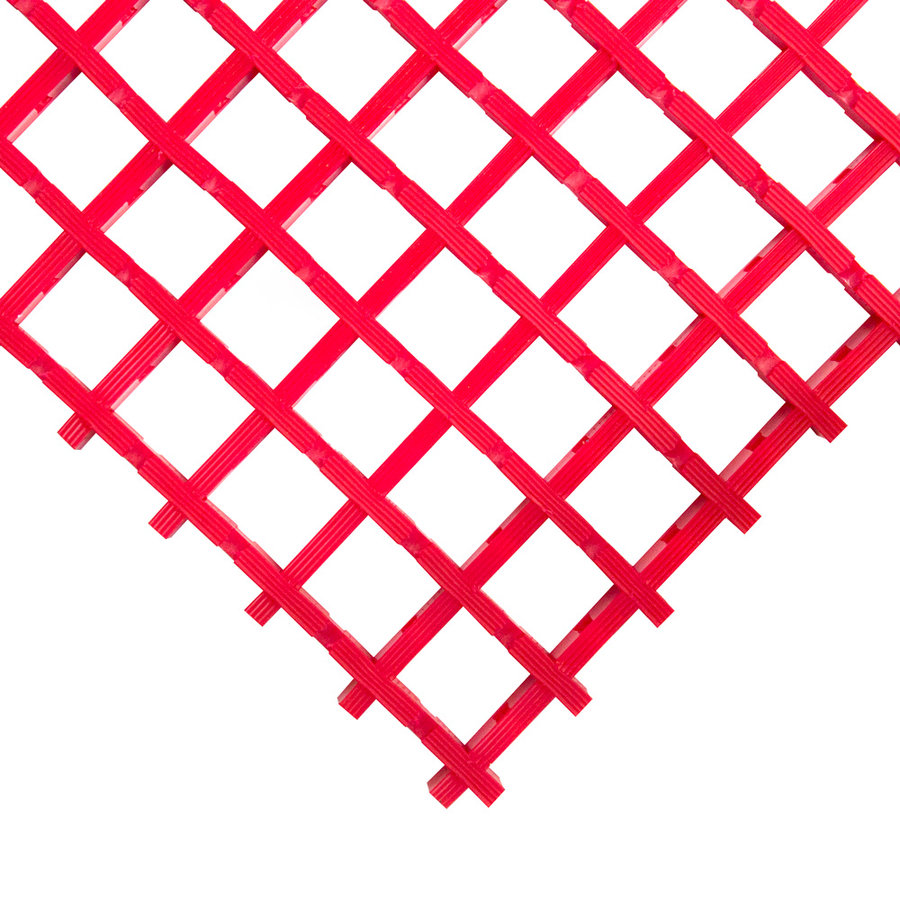 Červená univerzální průmyslová protiskluzová olejivzdorná rohož (mřížka 22 x 22 mm) - délka 5 m, šířka 120 cm a výška 1,2 cm