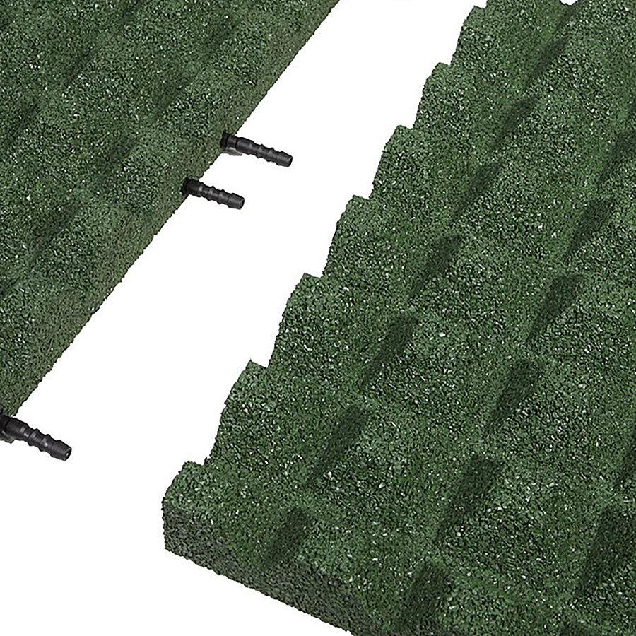 Zelená gumová krajová deska (V50/R28) - délka 50 cm, šířka 25 cm a výška 5 cm