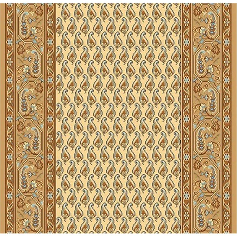 Béžový metrážový orientální koberec běhoun Malaga