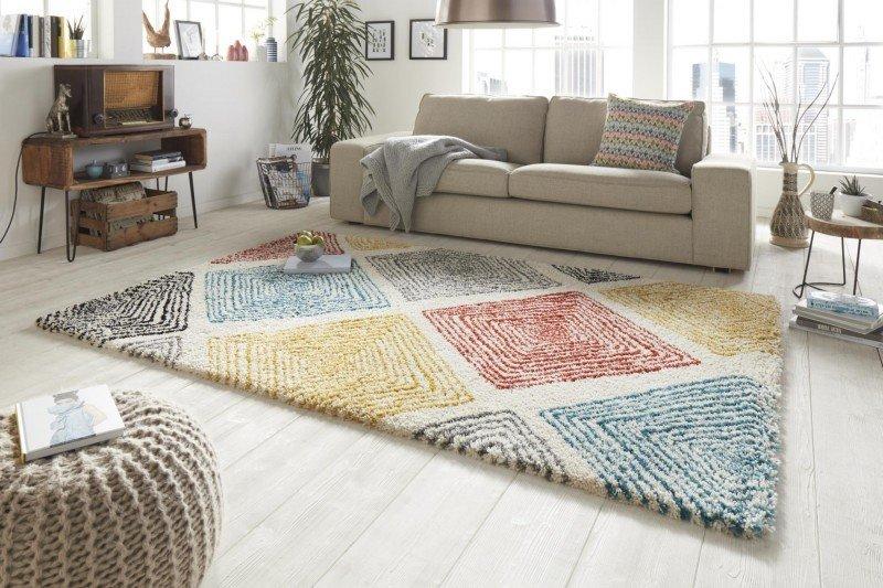 Různobarevný moderní kusový koberec Allure - délka 150 cm a šířka 80 cm