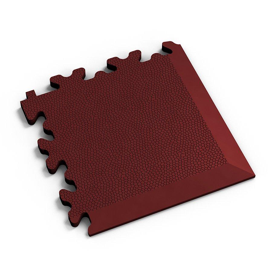 Červený plastový vinylový rohový nájezd 2026 (kůže), Fortelock - délka 14 cm, šířka 14 cm a výška 0,7 cm