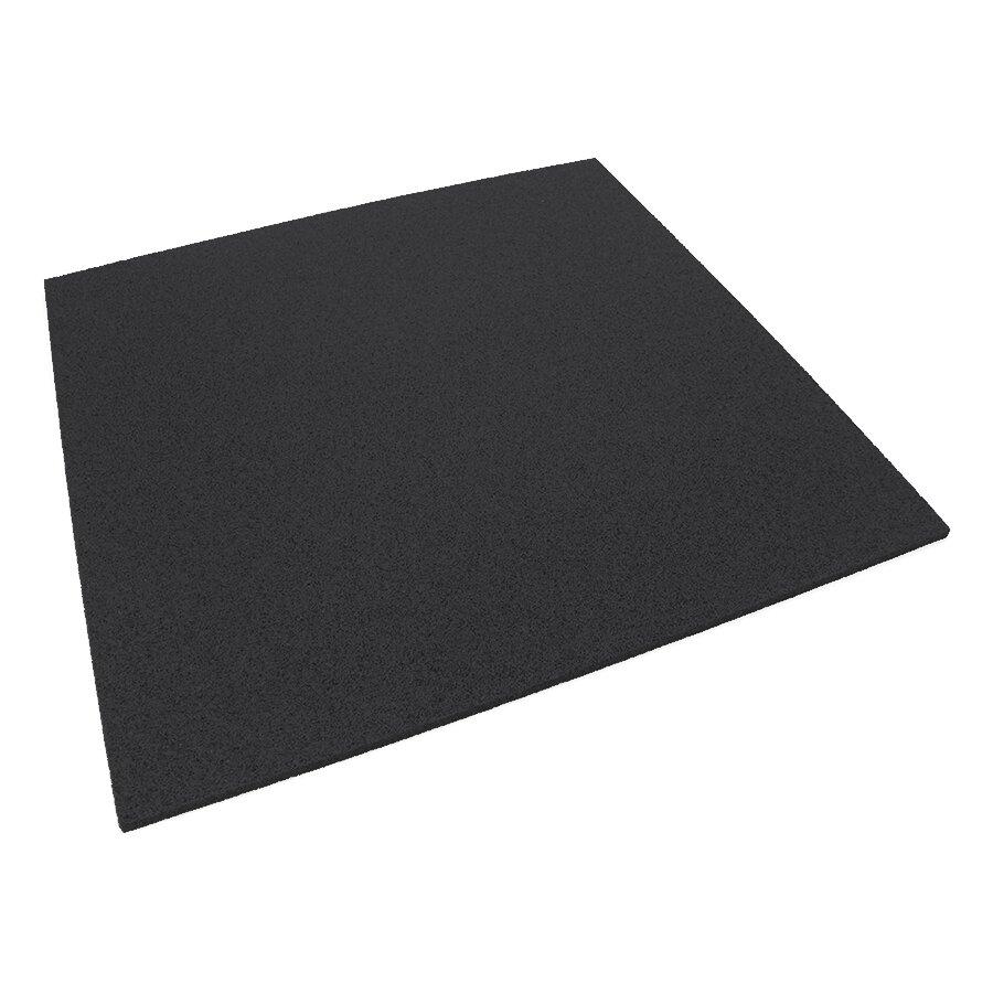 Černá gumová dlažba (deska) FLOMA SportFlo S800 - 98 x 98 x 1,5 cm