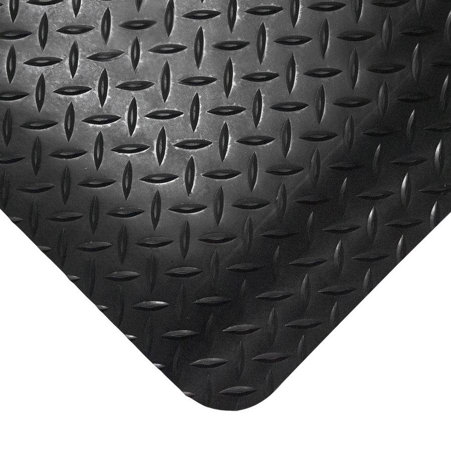 Černá gumová metrážová protiúnavová průmyslová rohož - výška 1,4 cm