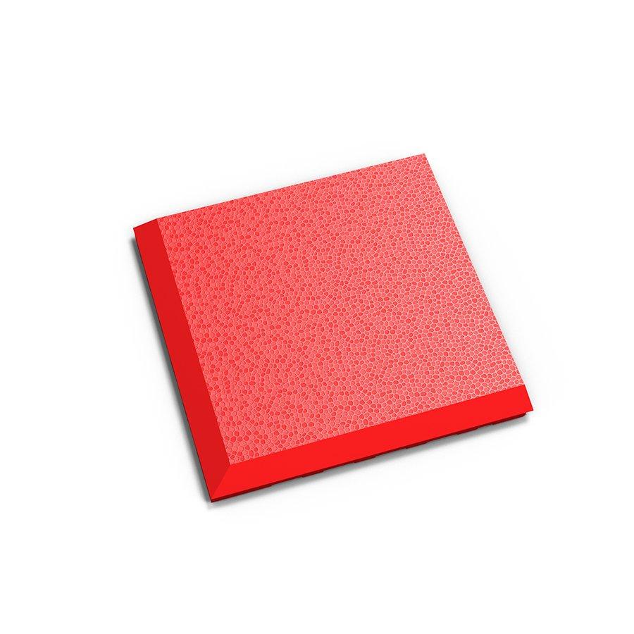 """Červený vinylový plastový rohový nájezd """"typ C"""" Invisible 2038 (hadí kůže), Fortelock - délka 14,5 cm, šířka 14,5 cm a výška 0,67 cm"""