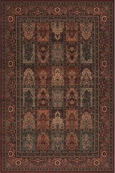 Vínový kusový orientální koberec Kashqai