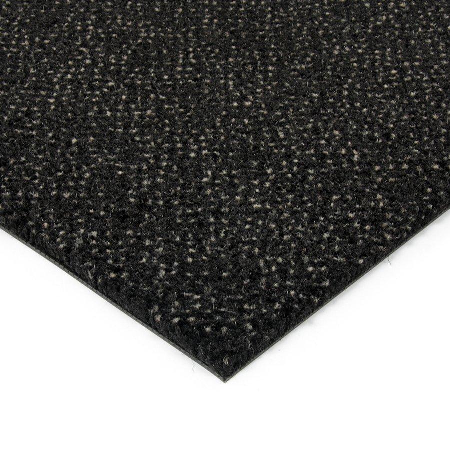 Černá kobercová vnitřní čistící zóna Cleopatra Extra, FLOMAT - výška 1 cm