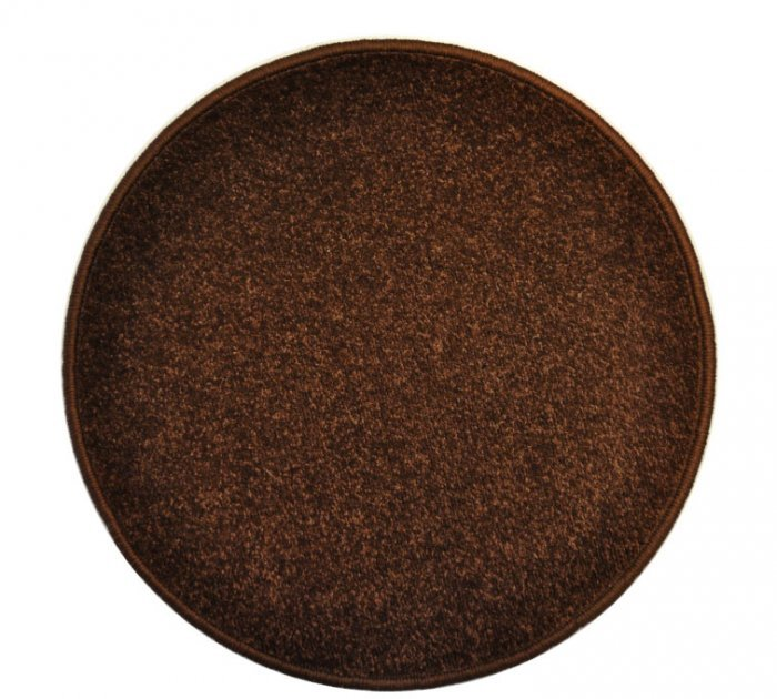 Hnědý kusový kulatý koberec Eton