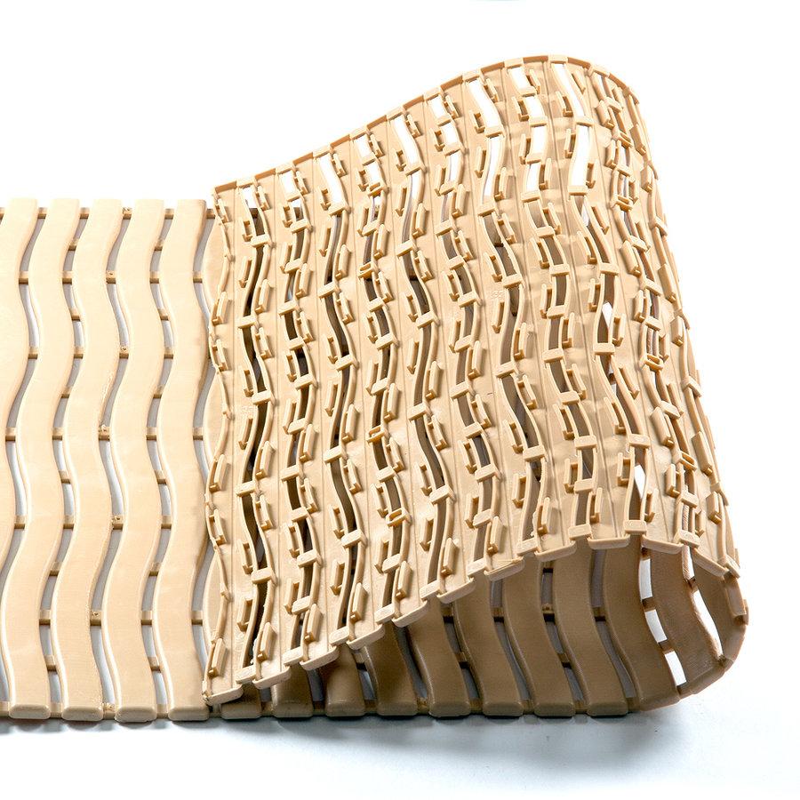 Béžová metrážová bazénová rohož - šířka 60 cm a výška 0,9 cm