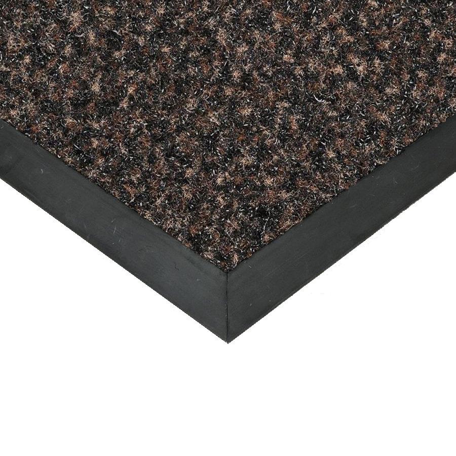 Hnědá textilní čistící vnitřní vstupní rohož Valeria, FLOMAT (Bfl-S1) - výška 0,9 cm