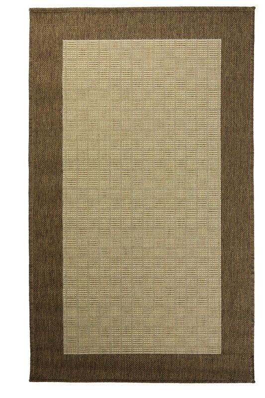 Hnědý kusový koberec Sisalo