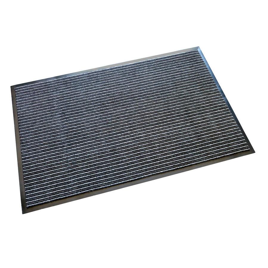 Černá textilní vstupní vnitřní čistící rohož Nova - délka 80 cm, šířka 120 cm a výška 0,7 cm
