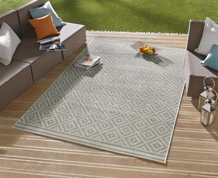 Hnědý kusový moderní koberec Meadow