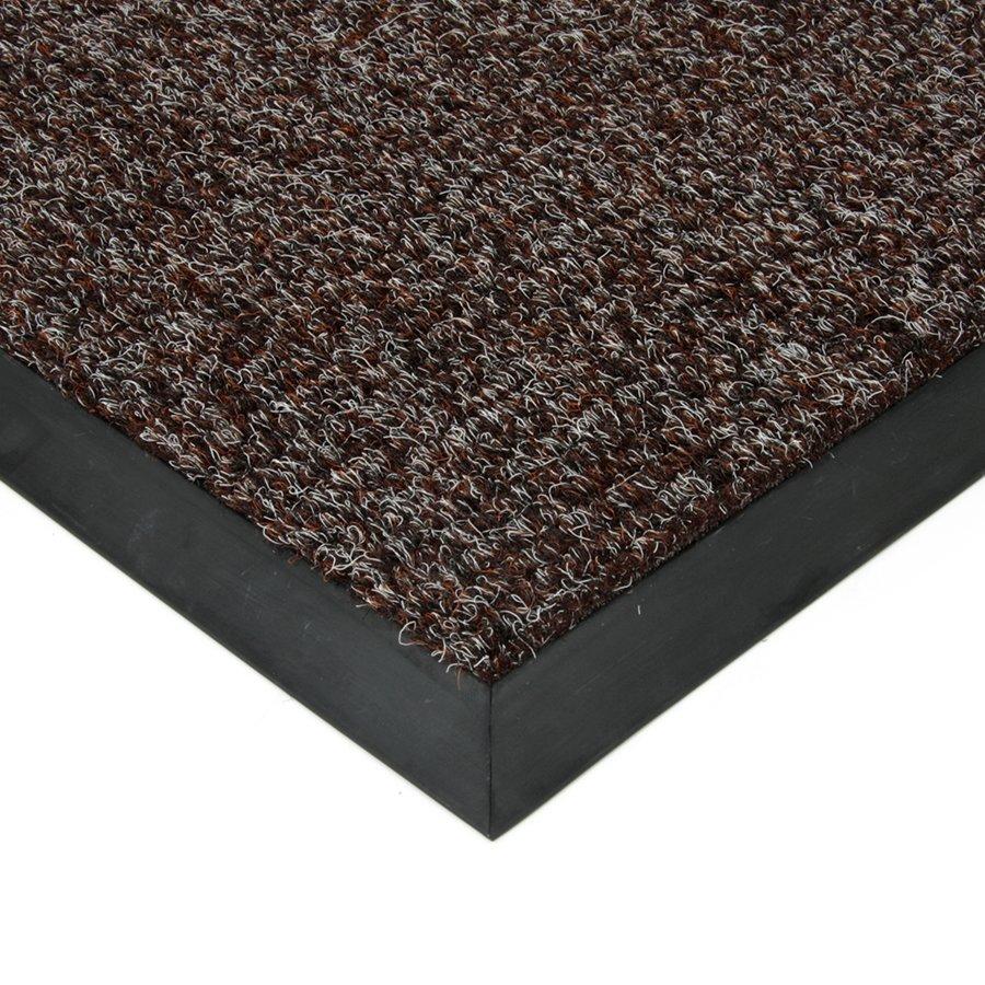 Hnědá textilní zátěžová čistící vnitřní vstupní rohož Catrine, FLOMAT - výška 1,35 cm