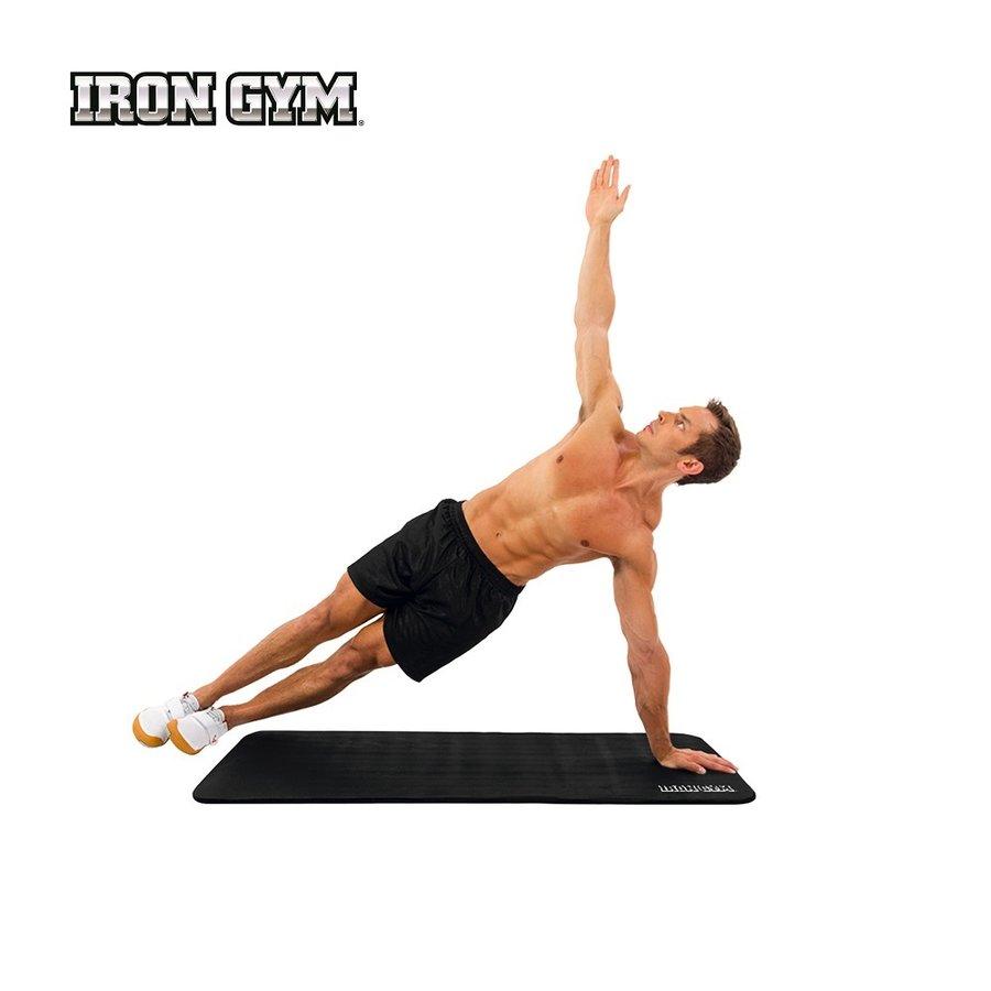 Černá podložka na cvičení a na jógu - délka 183 cm, šířka 61 cm a výška 0,3 cm