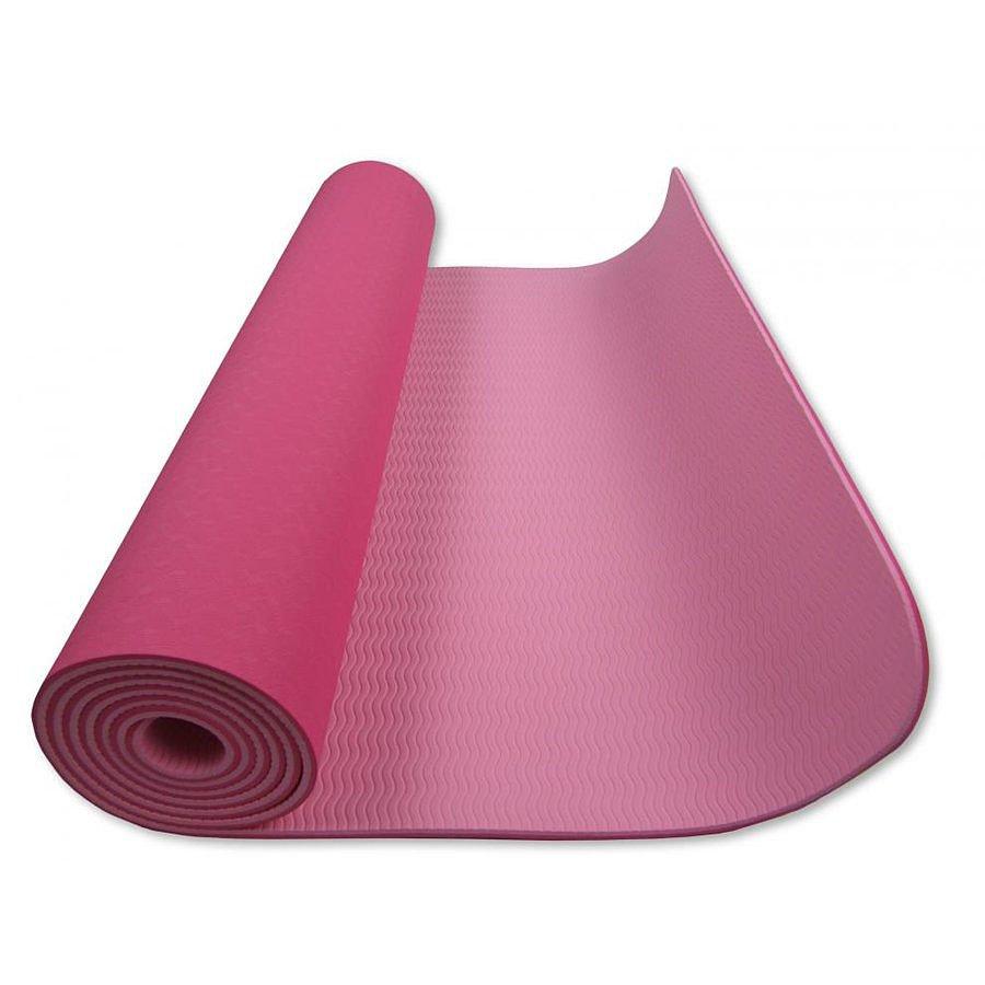 Růžová dvouvrstvá pěnová karimatka - délka 182 cm, šířka 61 cm a výška 0,6 cm