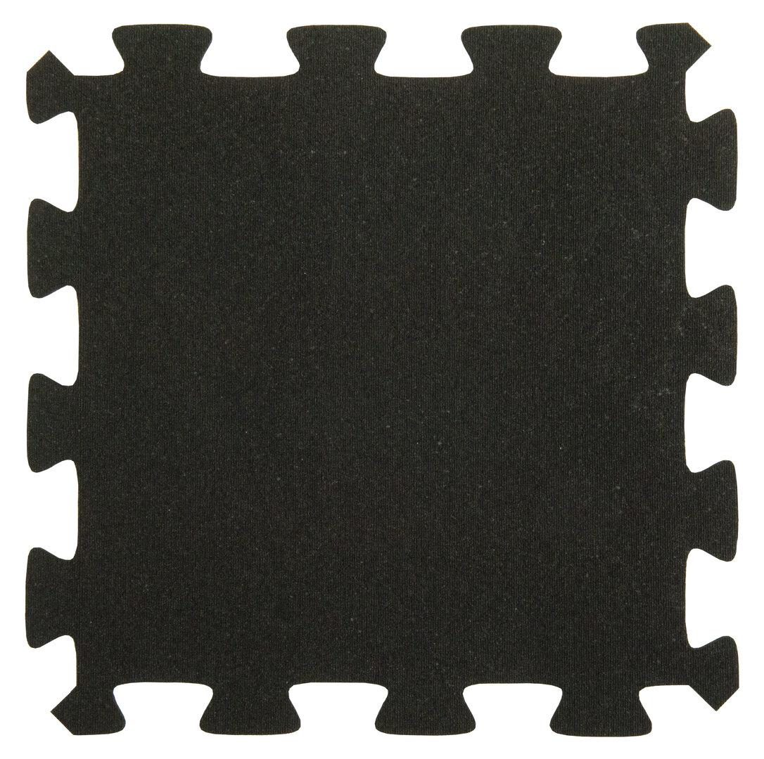 Černá gumová puzzle terasová dlažba FLOMA Comfort Tile - 40 x 40 x 2,2 cm