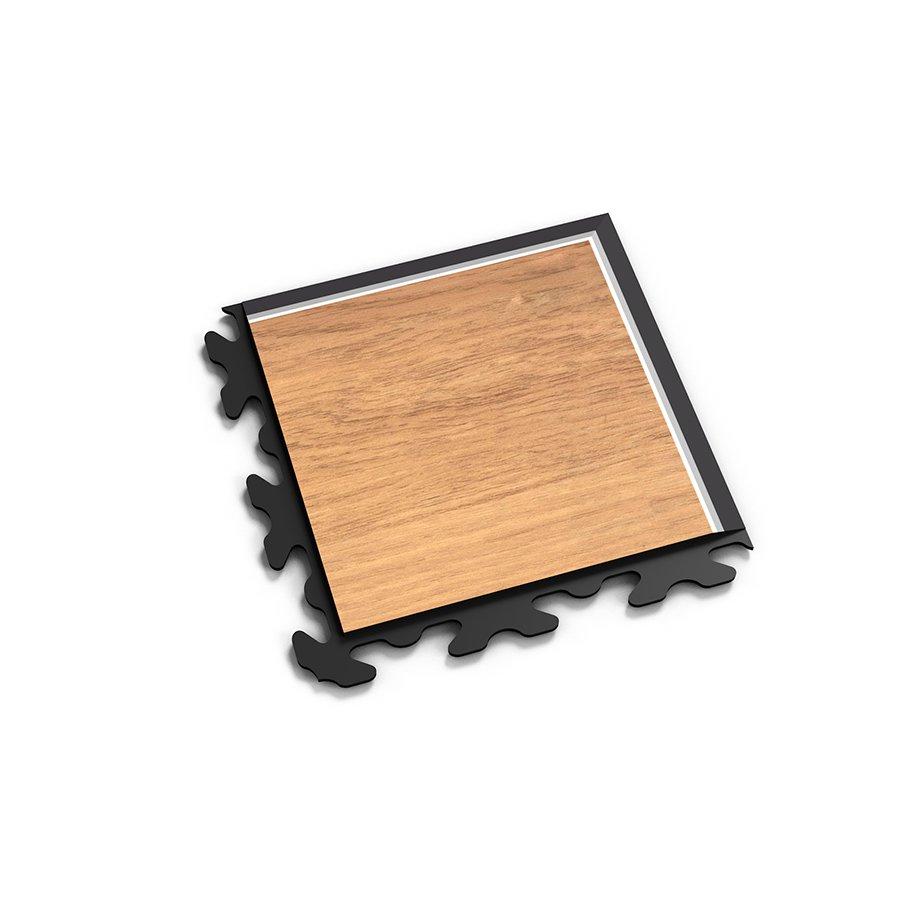 """Hnědý vinylový plastový rohový nájezd """"typ B"""" Home Decor 2117, Fortelock - délka 14,5 cm, šířka 14,5 cm a výška 0,65 cm"""