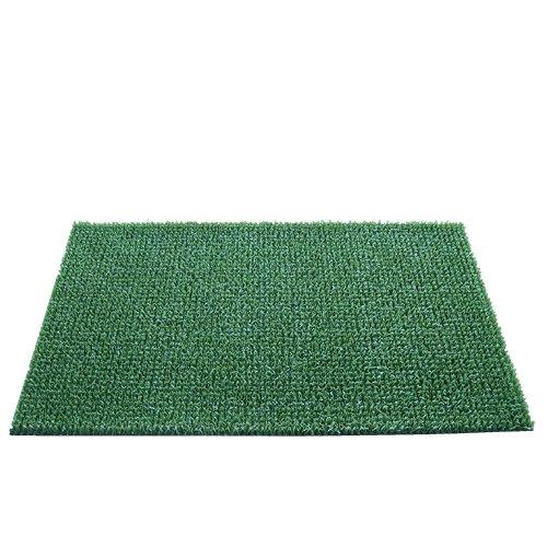Zelená plastová travní vnitřní vstupní rohož - délka 90 cm, šířka 55 cm a výška 2 cm