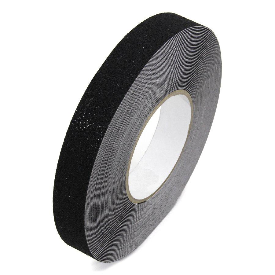 Černá korundová podlahová páska - 18,3 m x 2,5 cm
