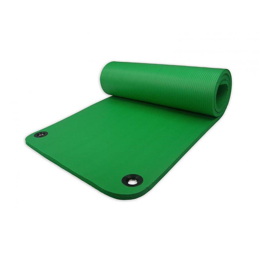 Zelená pěnová karimatka na jógu Harmony - délka 180 cm, šířka 60 cm a výška 1,5 cm