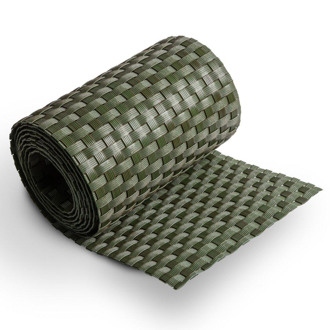 """Zelený plastový ratanový stínící pás """"umělý ratan"""" - délka 255 cm a výška 19 cm"""
