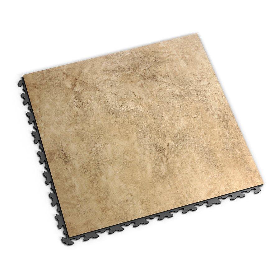 Béžová plastová vinylová dlaždice Business Decor 2120, Fortelock - délka 47,2 cm, šířka 47,2 cm a výška 0,65 cm