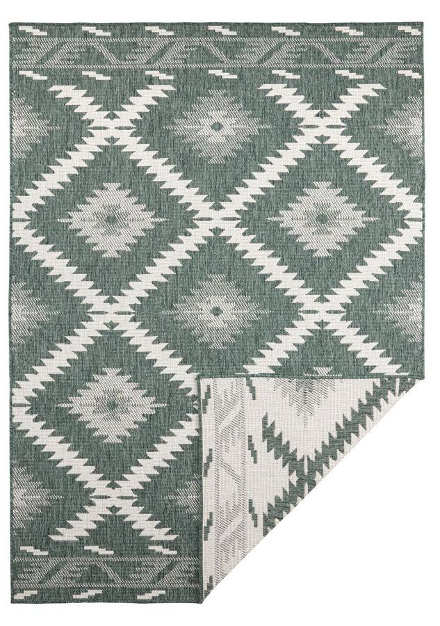 Zelený oboustranný moderní koberec Malibu, Twin-Supreme - délka 350 cm a šířka 80 cm