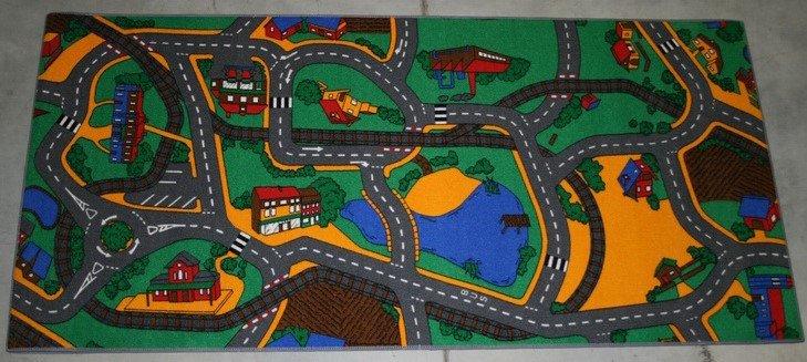 Žlutý dětský kusový hrací koberec Play - délka 165 cm a šířka 100 cm