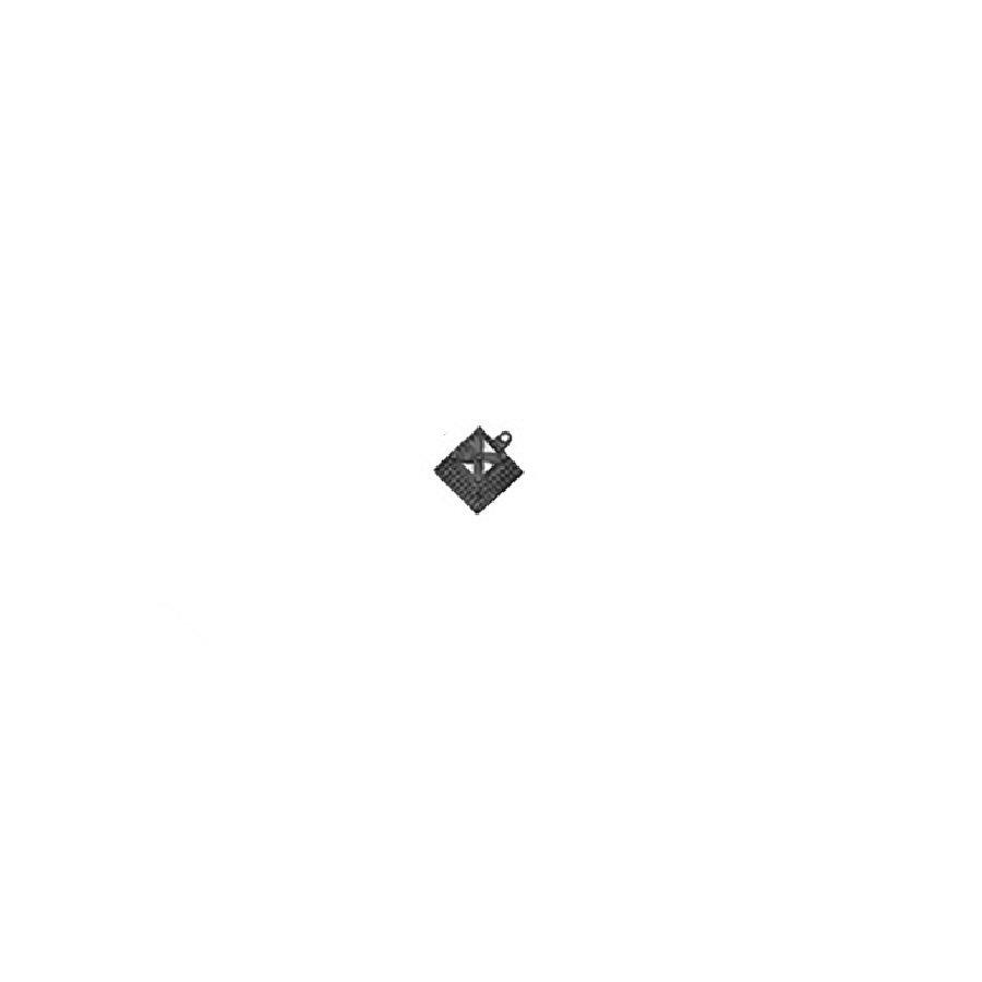 Černý náběhový roh pro dlaždice Lok-Tyle - 5 cm x 5 cm  x 1,43 cm