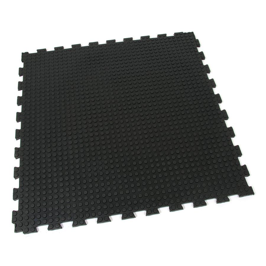Gumová modulární podlahová zátěžová rohož Heavy Bubble, FLOMAT - délka 100 cm, šířka 100 cm a výška 1,6 cm