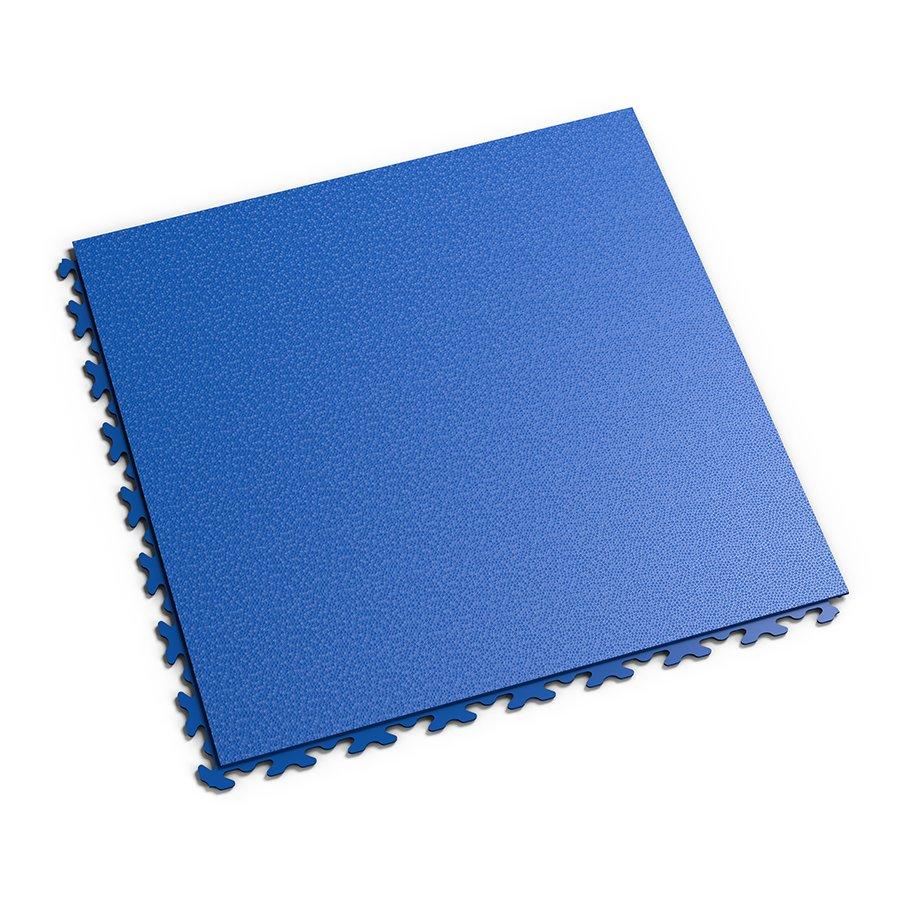 Modrá vinylová plastová zátěžová dlaždice Invisible 2030 (hadí kůže), Fortelock - délka 46,8 cm, šířka 46,8 cm a výška 0,67 cm